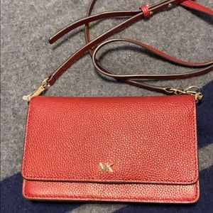 Michael Kors pebbled leather convertible xbody bag